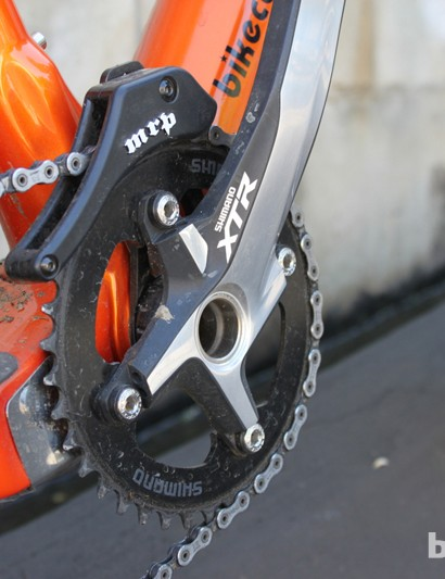 MRP's 1.X guides the chain over a 38-tooth Shimano Saint ring