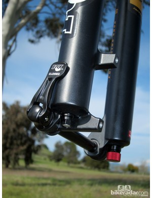 Brake tabs are optimized for 160mm rotors on the new FOX 34 Float 26 160 FIT CTD