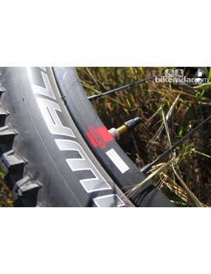 The 650B Rise rim uses the same profile as the 26in version, and is simply rolled to the middle diameter