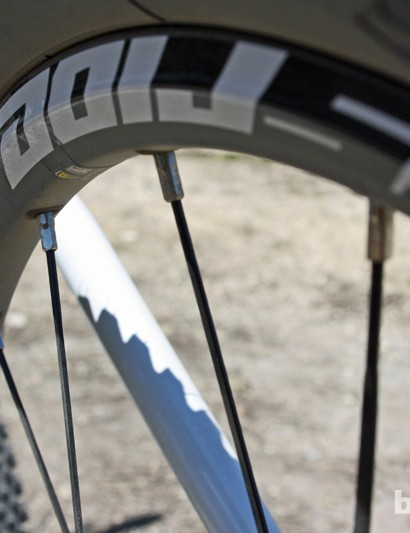 The Crossride 29 rim looks ordinary on the outside, with no fancy milling