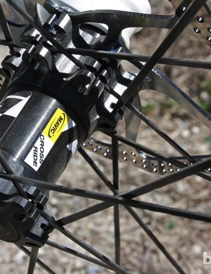 The Crossride front hub is no less technical a piece of engineering than those found on Mavic's pricier wheelsets