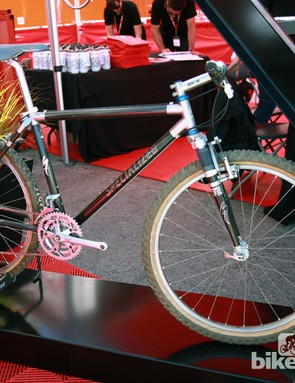Ned Overend's old Specialized S-Works Ultimate was proudly put on display at this year's Sea Otter Classic