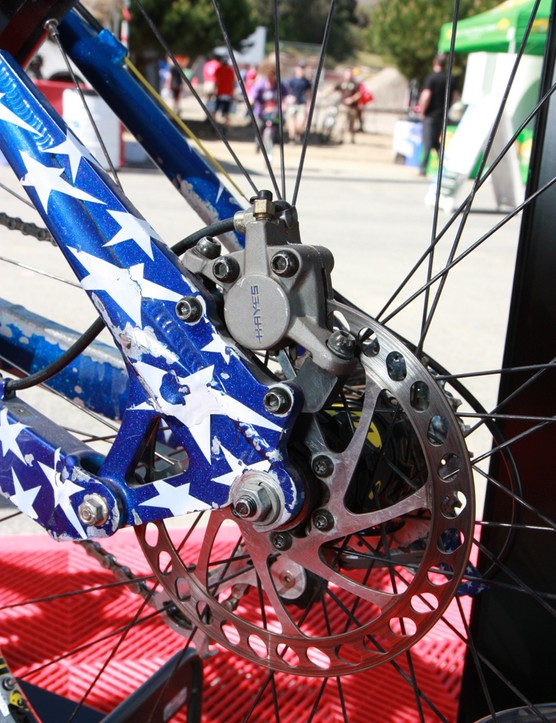 First-generation Hayes hydraulic disc brakes were fitted to Shaun Palmer's 1996 Specialized FSR