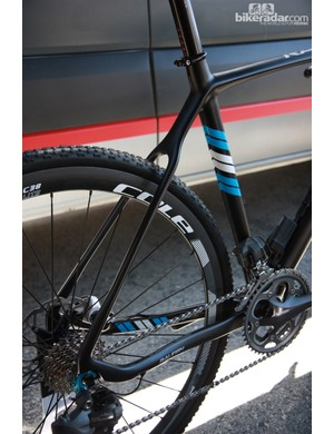 Svelte seatstays offer at least the suggestion of a smooth ride