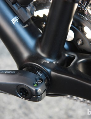 The PressFit 30 bottom bracket is not only light but also allows the bike to be converted to a singlespeed with the appropriate adapter