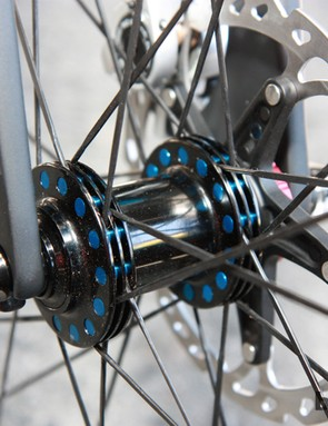 Cole Products wheels are built with unique pivoting spoke anchors that supposedly allow for better alignment and more tension