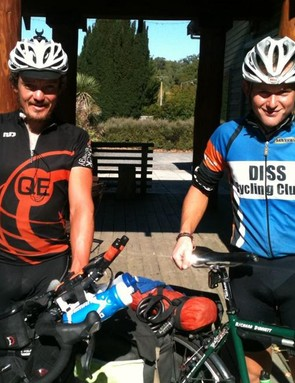 Mike Hall (left) and Richard Dunnett cross paths in New Zealand