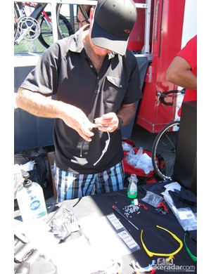 Jim Beck building custom glasses for riders