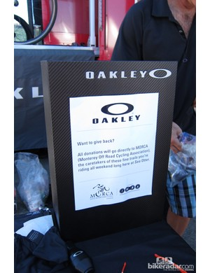 If you get a free pair of lenses, ear stocks or glasses make sure to stuff some bills into this box; Oakley plan to hand it over to MORCA before even counting it at the end of Sea Otter