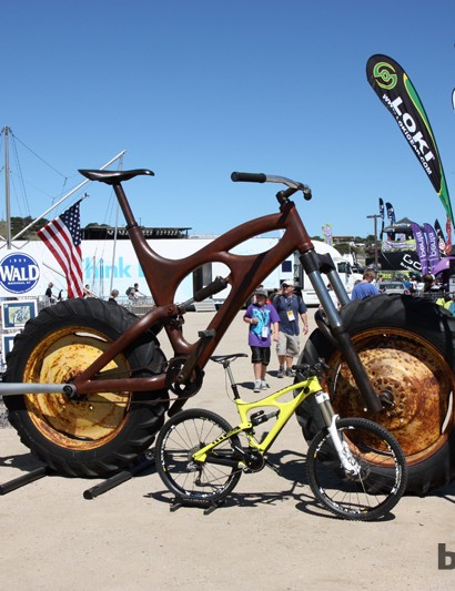 Ibis Cycles stole the show at this year's Sea Otter Classic with this amazing Ibis Maximus, created by Nick Taylor. Note the height requirements outlined on the sign at right