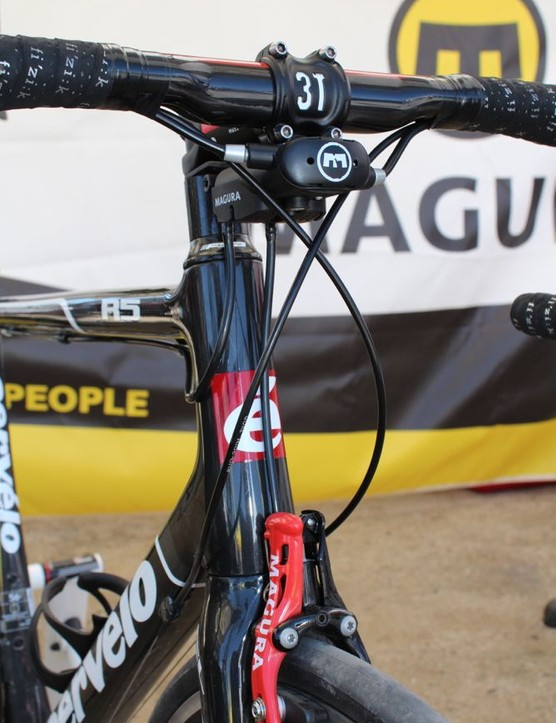 Magura's new converter works with the company's RT8 hydraulic calipers