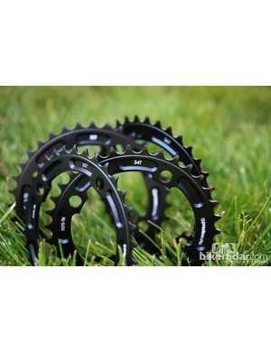 New from Praxis Works is a range of single chainrings with one-tooth jumps from 32-38 teet