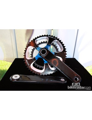 Praxis Works also showed off a new set of Turn modular cranks with carbon fiber arms