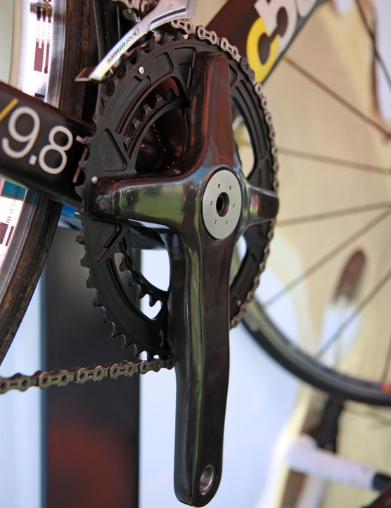 The burly chainring spider and one-piece dual chainrings should make for incredible stiffness and fantastic shifting on Praxis Works' new Turn carbon crank