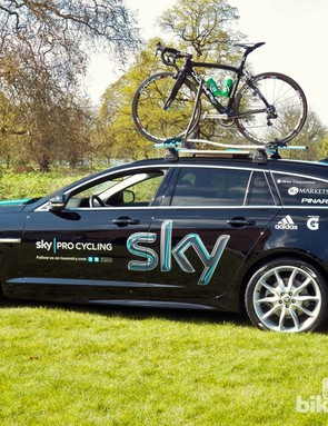 We hope Mark Cavendish's bike won't be spending too much time up there