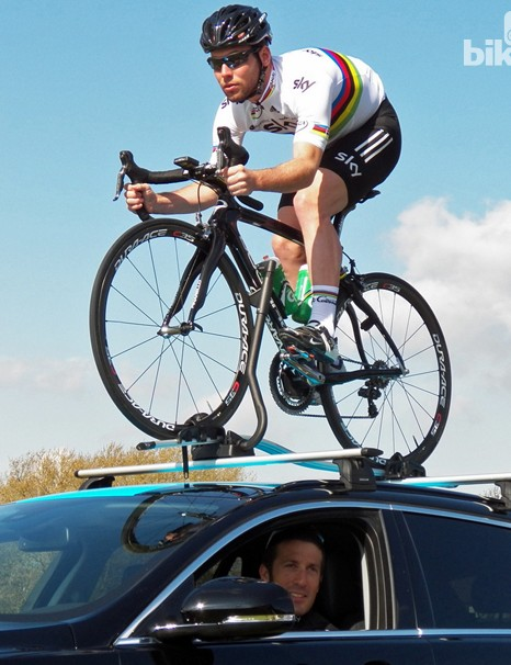 You can't say Cav isn't game to do his bit for the sponsors!