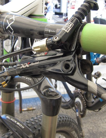 SRAM BlackBox athlete Emily Batty raced with what we believe to be the new SRAM Red road caliper at Sea Otter