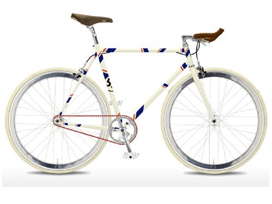 This is 2011 London Nocturne winner Alex Dowsett's Foffa Bike design, complete with red chain to represent his suffering from Haemophilia