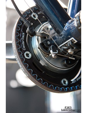 FSA will soon have a belt version of the slick Patterson two-speed crank available. The production version will have a larger-diameter cover to better conceal the larger chainring