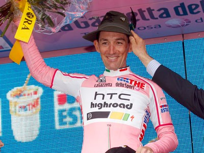 Marco Pinotti hopes he can spend more time in pink in the upcoming Giro d'Italia