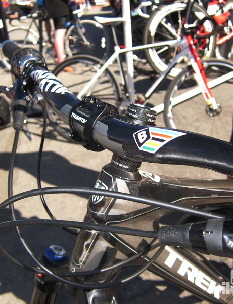 'Rad' Ross Schnell is one of a select number of SRAM-sponsored athletes to take part in Truvativ's new BlackBox custom handlebar program. These carbon fiber bars are wider than normal