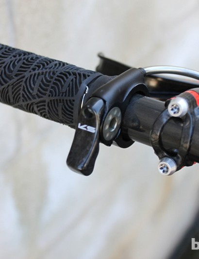 The small, slick KS remote integrates with ODI lock-on grips