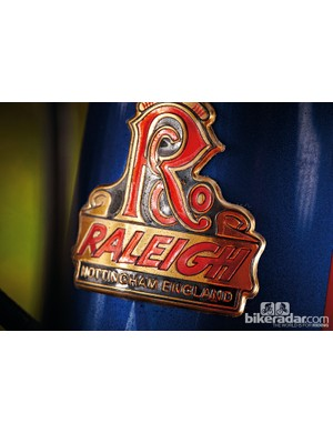 The iconic Raleigh heron head badge adds a sense of history