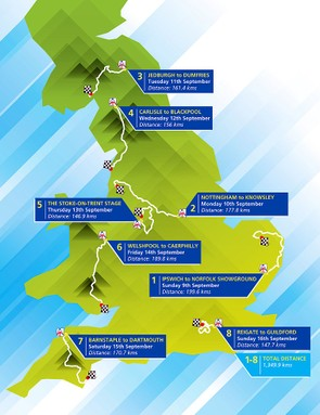 Detailed route maps of The 2012 Tour of Britain will be revealed later today