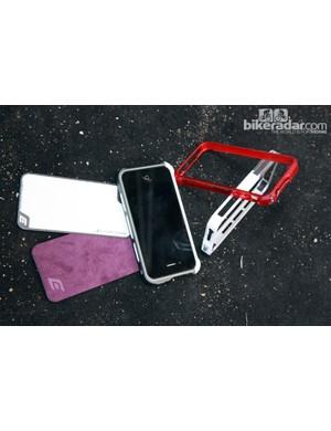 Along with the variety of iPhone cases on hand from Element Case were stick-on back protectors in a wide range of colors, styles and materials