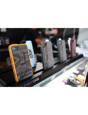 Element Case showed off a range of team-themed iPhone back protectors at Sea Otter