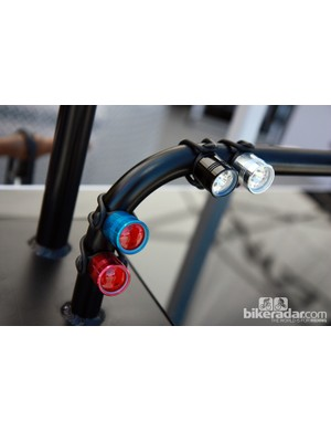 The new Lezyne Femto lights use two CR2032 cells each. O-ring seals should make them reasonably resistant to water