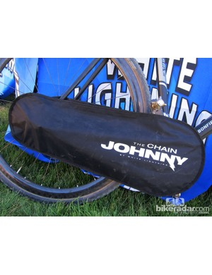 White Lightning displayed the Chain Johnny, a nylon drivetrain cover designed for riders who regularly transport their bikes inside their vehicles. We think it'd be great for travel bikes, too. Retail price is US$20