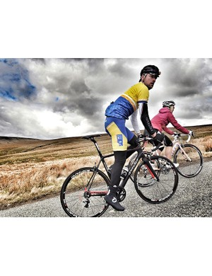 Rob Hayles tackles one of the Etape Pennines' tough climbs