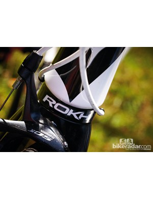 The tapered head tube enhances front-end stiffness and handling