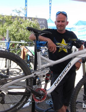 PJ Hunton, Norco's engineering manager, with one of the prototypes
