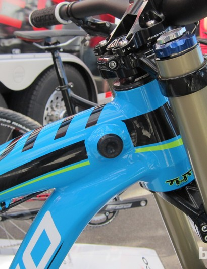 Next year's integrated fork bump-stops will offer 3° more movement