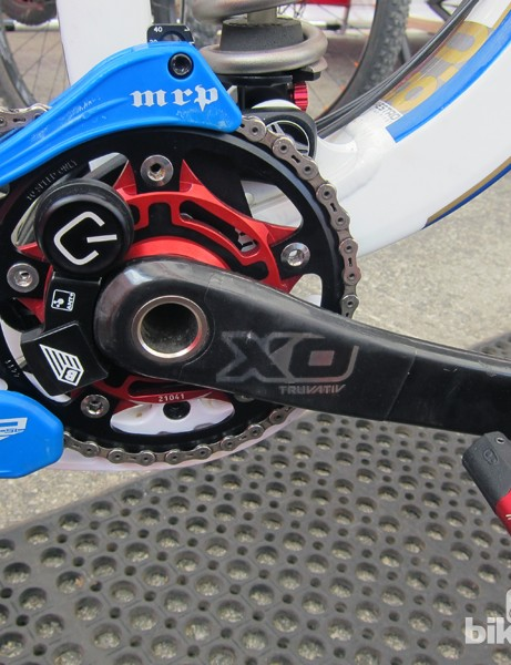 Danny Hart (Giant Factory Off-Road Team) has started training with this new downhill-specific Quarq power meter