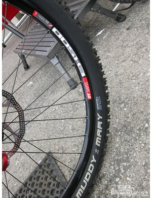 Despite the dry conditions, Danny Hart (Giant Factory Off-Road Team) used Schwalbe Muddy Mary tires at Sea Otter