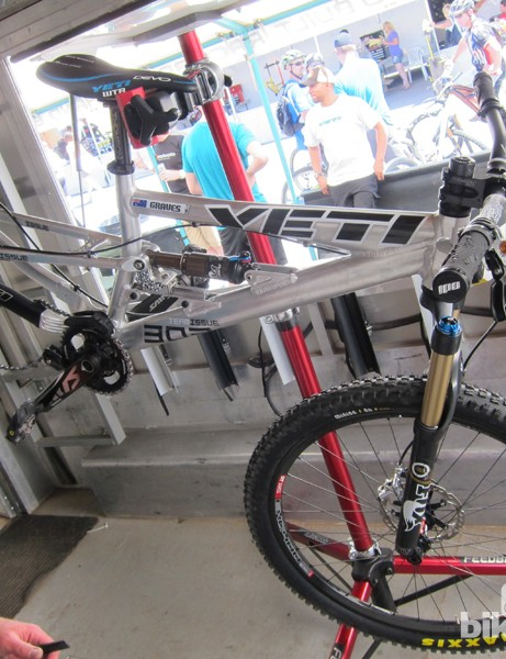 Factory rider Jared Graves competed at Sea Otter on this Yeti four-cross machine