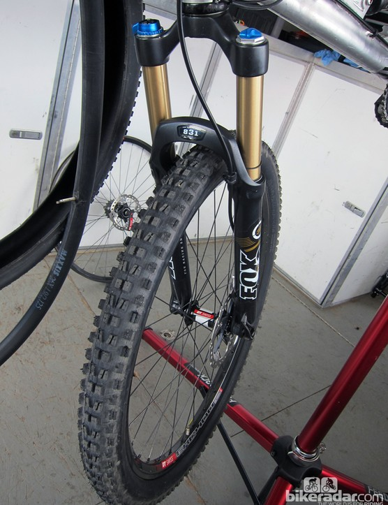 A Maxxis Minion front tire for Jared Graves (Yeti)