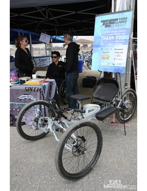 Tara Llanes was on hand at Sea Otter again this year, not only providing inspiration but also showing off this incredible custom trike that was built after a successful fundraising campaign last year. Llanes may not be racing four-cross anymore but she's still rad
