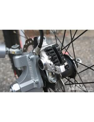 Shimano XTR provides the braking
