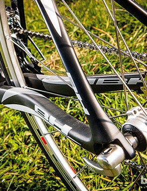 The BH has boxy chainstays and carbon rear dropouts