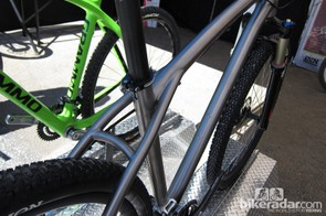 The seatstays bypass the seat tube and mount to the top tube for greater compliance