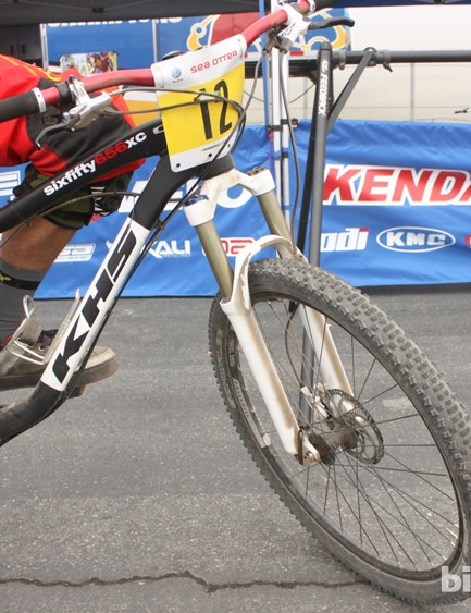 The KHS team were on their 120mm/4.7in-travel SixFifty656XC for the Sea Otter downhill race