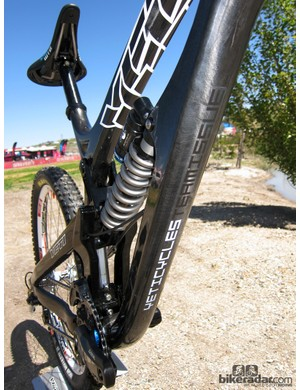 Yeti don't yet offer the new 303 WC Carbon frame to the public and are still testing prototypes, hence the 'Team Issue' badging