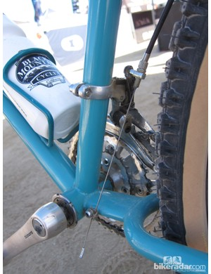 Check out the front derailleur cable routing on this old Yeti