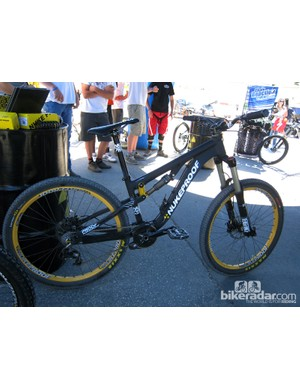 Nukeproof showed off their new Rook slopestyle frame at Sea Otter