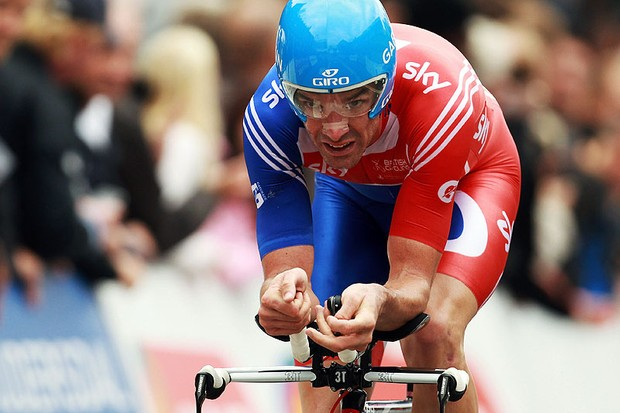 David Millar in action at last year's world championships in Copenhagen