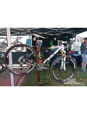 Fuji showed their new SLM29 carbon 29er hardtail at this year's Sea Otter Classic